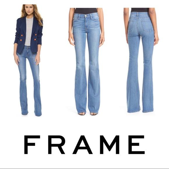 Frame Denim Jeans | Frame Karlie Kloss Forever Karlie Tall Flare ...